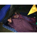 We made a tent and slept in the garden! ⛺️