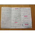 Darcey-Bella made a leaflet for her grandparents.