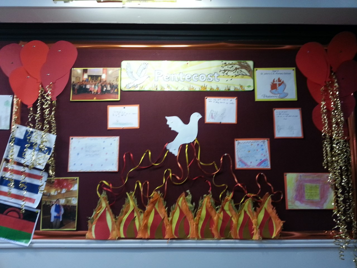 Our Pentecost display in St. Peter's Church