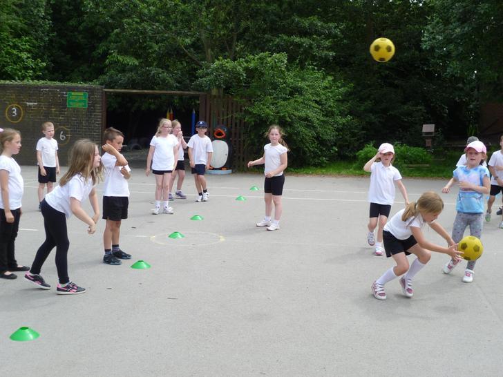 Playing 'bench ball'