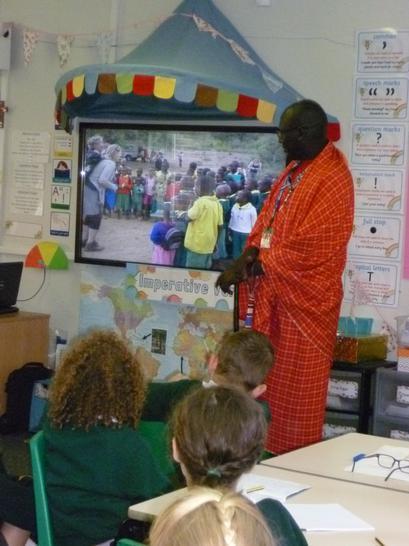 Ezekiel Ole Katato came to visit our school