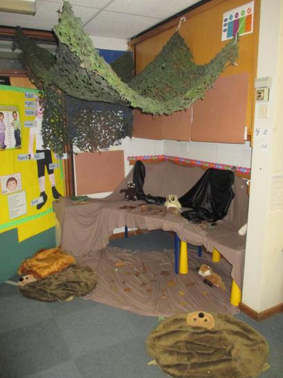 We now have a Gruffalo's den too!