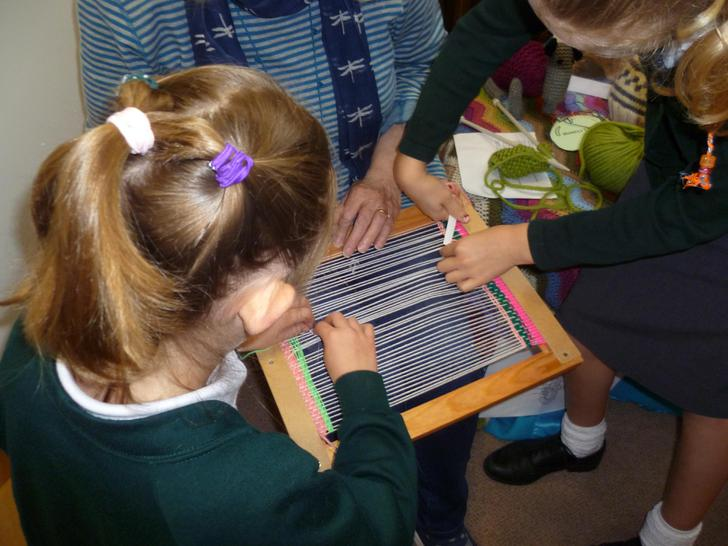 Having a go at weaving