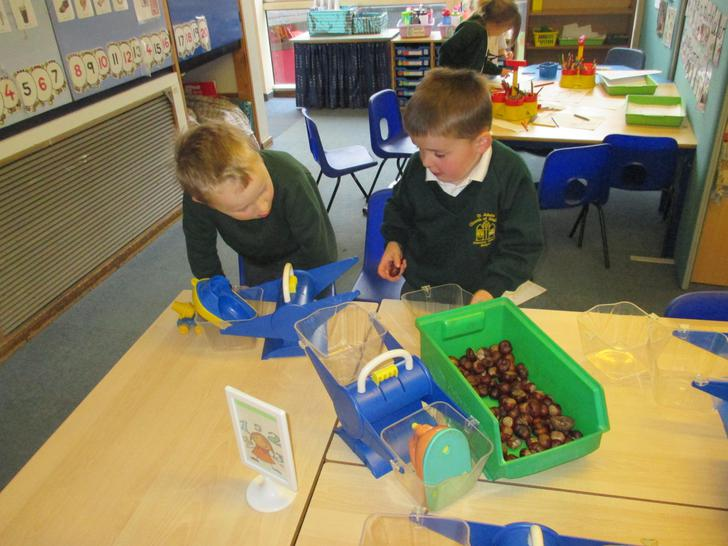 Using conkers to balance the scales