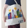 Lucy's artwork bag.