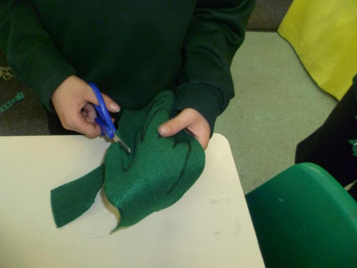 Creating the wings for the butterfly
