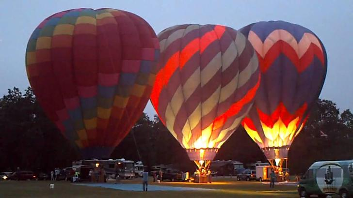 Hot air balloons rise when the air is heated.