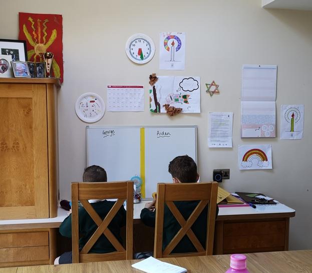 A mini classroom.