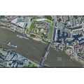 Tower of London and Tower Bridge, Google Earth