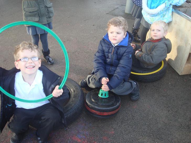 The boys have had fun making a car!