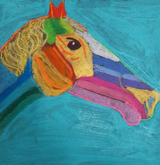pastel & paint