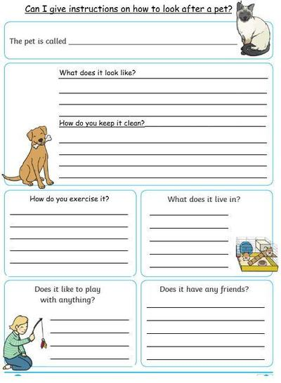 Care instruction Poster - lined boxes