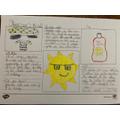 Ben's sun safety leaflet.