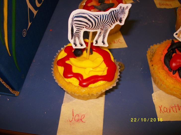 A yummy zebra cake.