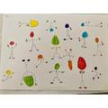 Ben's Haring-inspired artwork.