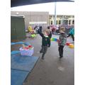 Alfie flying his kite