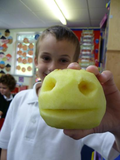 Our apple ready for mummification
