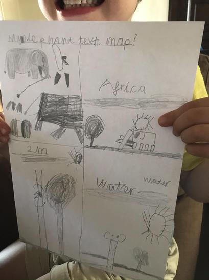'Elephants' text map