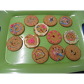 Decorating biscuits - very colourful!