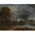 Salisbury Cathedral from meadows by John Constable