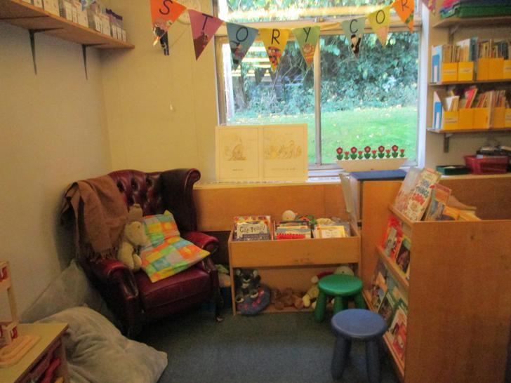 Our cosy book corner has moved