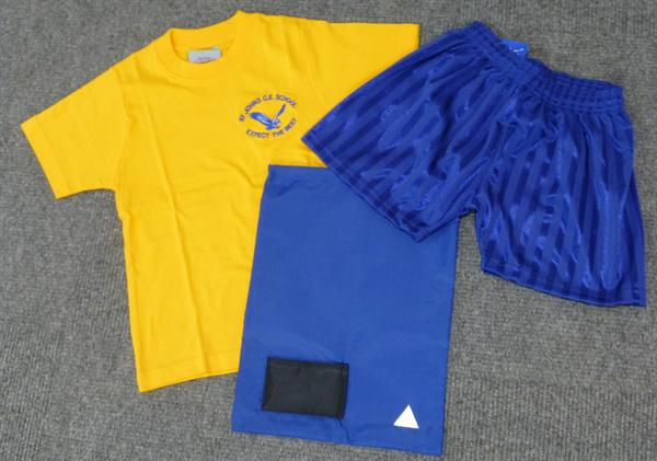 PE Kits (T Shirt/Shorts/PE Bag) £10