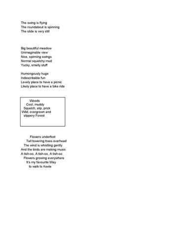 Allyson's Poems