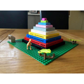 Isla's pyramid with added dinosaur!