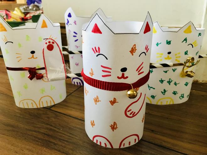 10th Feb - Alice has made cats for Chinese New Year