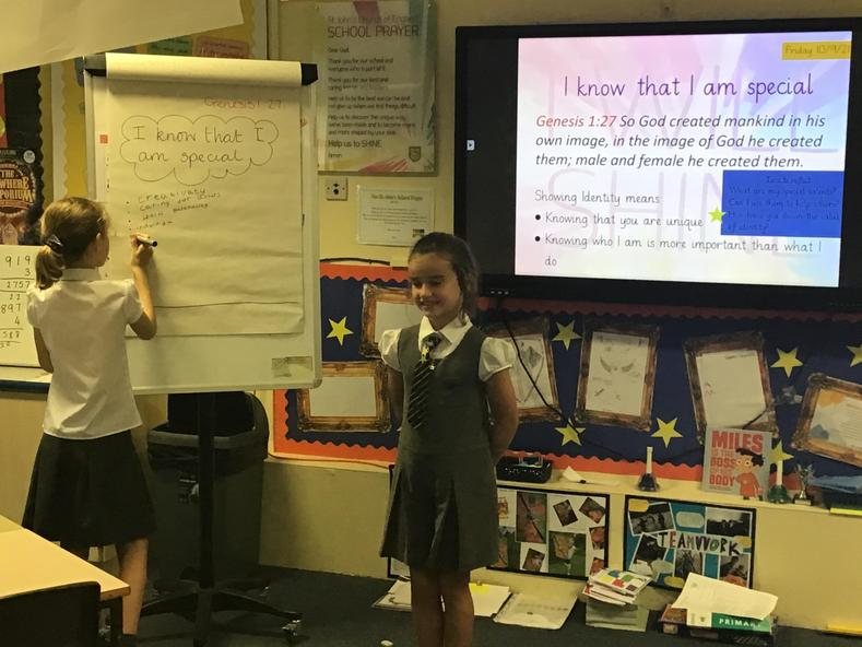 Children leading our weekly Learning Forum - child leadership