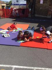 We enjoyed sharing a book