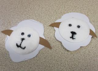 We made sheep badges