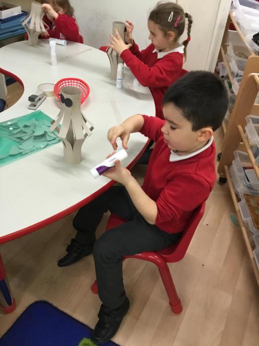 Children made Chinese lanterns