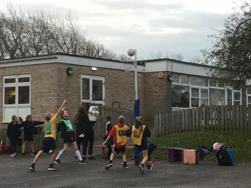 Netball match at Radipole