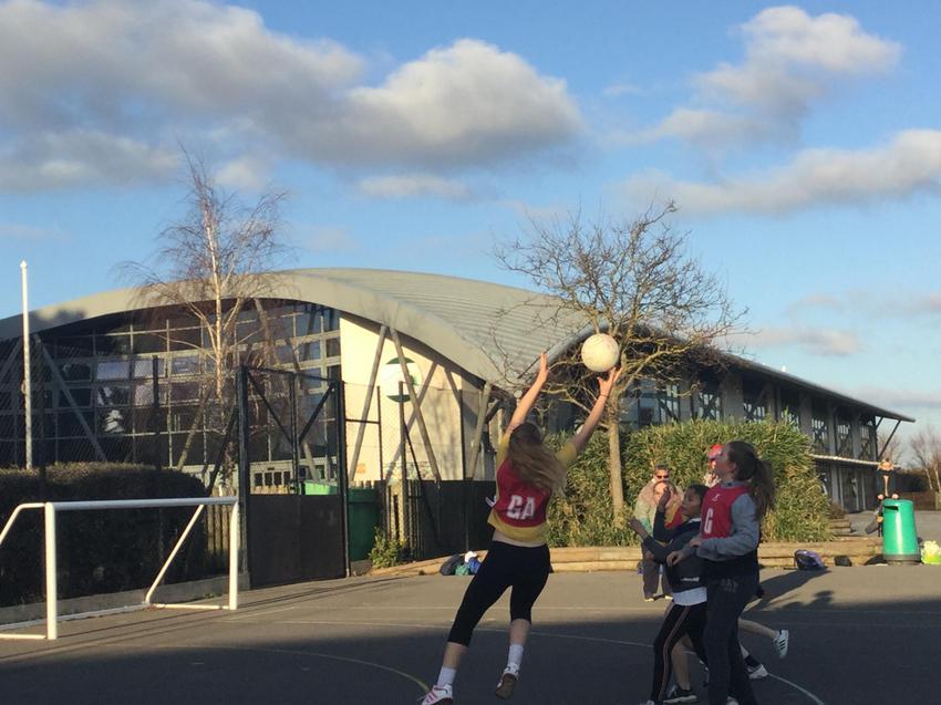 Netball match at Conifers