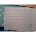 Ollie's fantastic handwriting