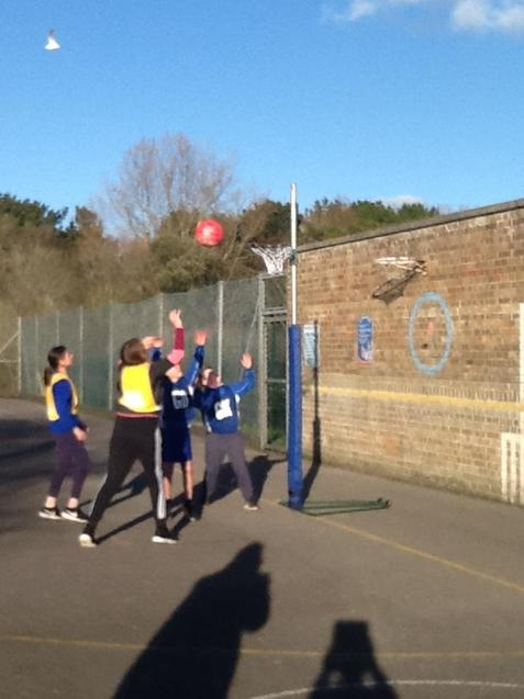 Netball match against Southill