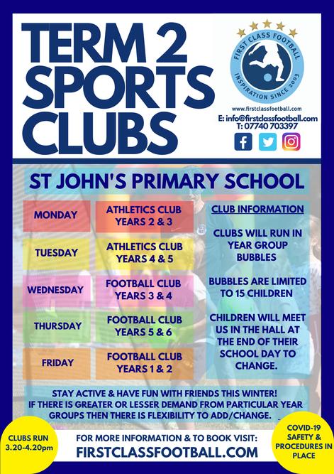 Term 2 Sports Clubs