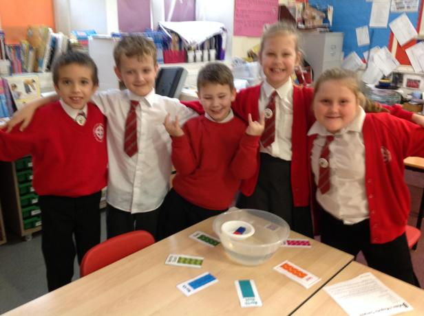 Making our own compasses.