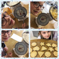 Measuring and making delicious biscuits...yum!