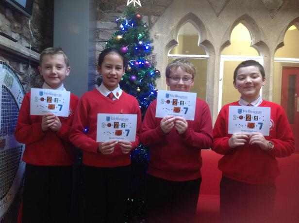 Well Done to our Year 6 representatives in the Wellington School Maths Challenge which was held on 26th November 2016
