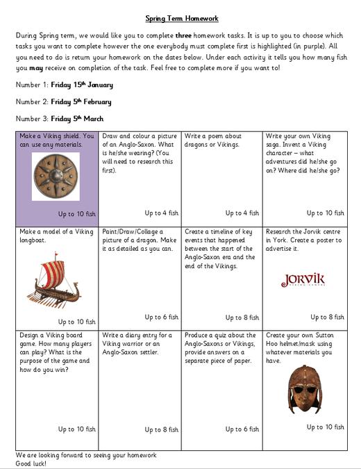 Spring Term Homework Challenges