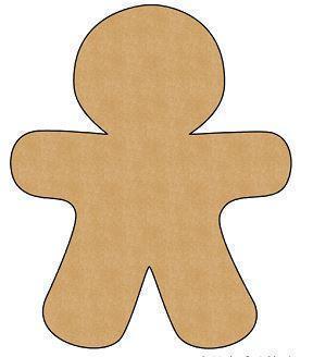 Gingerbread man body