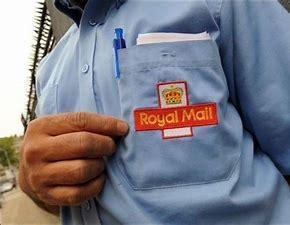 our postal workers wear a shirt which says Royal Mail