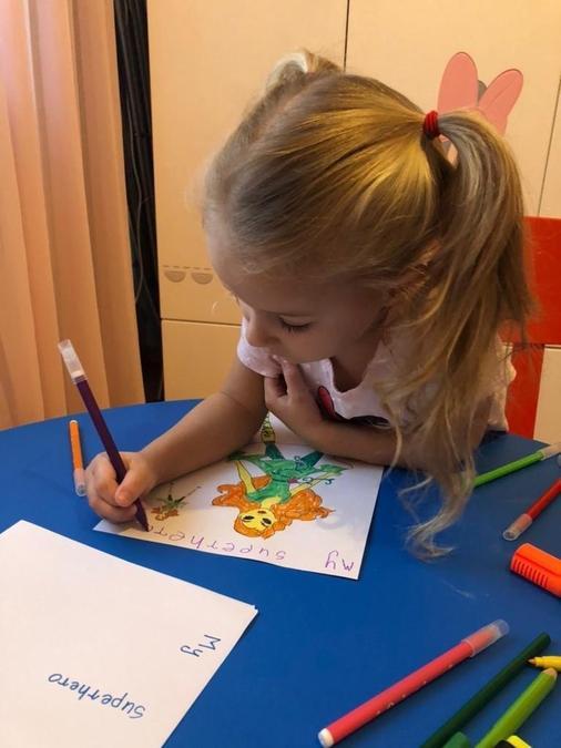 coloring the superhero