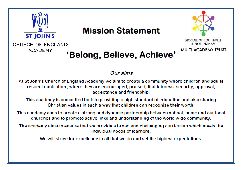 BELONG, BELIEVE, ACHIEVE