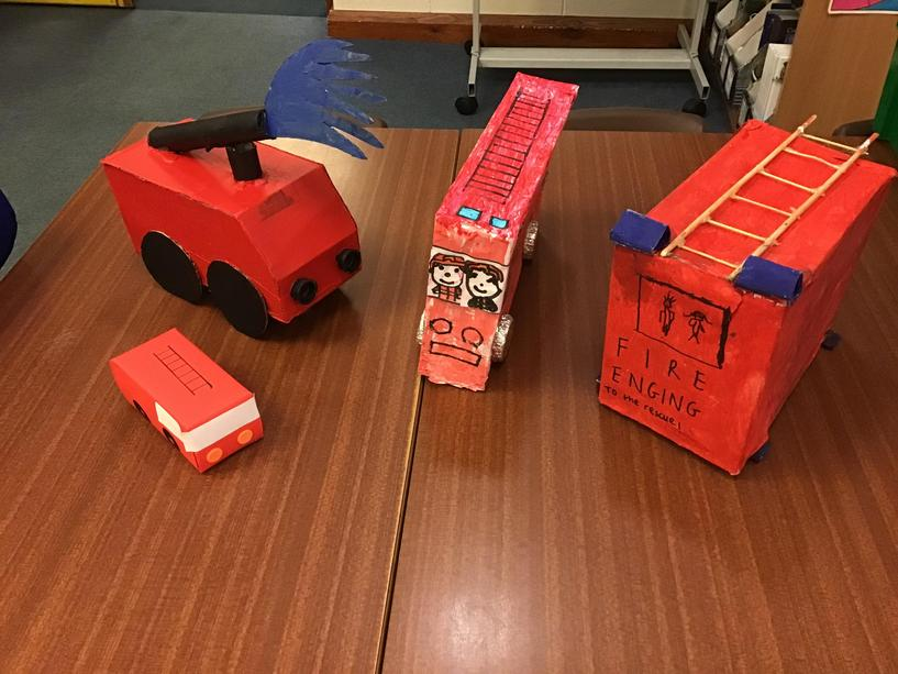 Year 2: Design and make a model fire engine