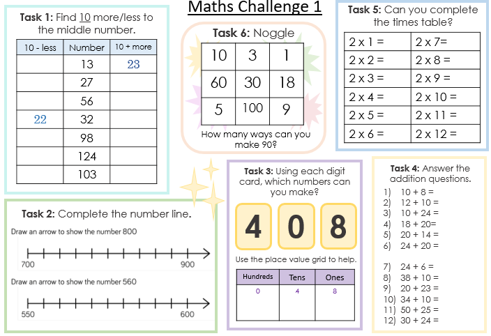 Maths Challenge - Place Value 1
