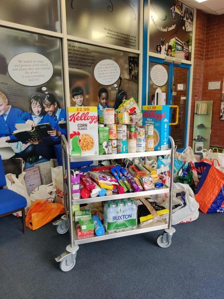 A selection of the food you have donated.