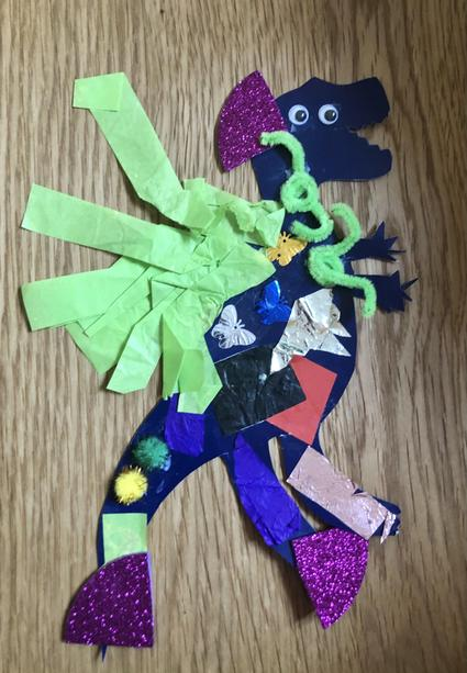 Aisha made this fantastic dinosaur.